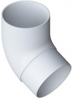 Колено трубы 67° ПВХ Элит (белый)